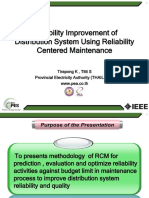 Reliability Improvement of Distribution System Using RCM