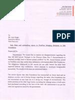 Isha Foundation letter 19 May, 2017