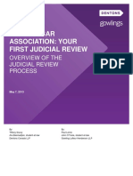 Ontario Bar Association Your First Judicial Review Overviewof the Judicial Review Process