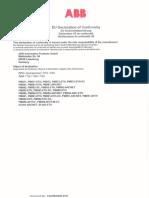 EC-Declaration of Conformity - ABB PLC
