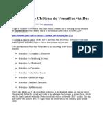 How to Get to Château de Versailles via Bus