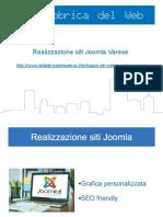Creazione siti Joomla Varese e Provincia