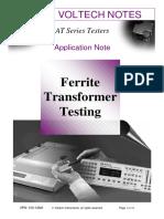 Ferrite Transformer Testing