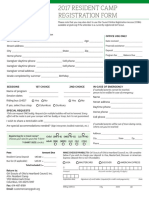 2017 Resident Camp Registration Form