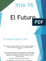 Tema 16 (Tiempo Futuro)