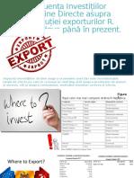 Influența Investițiilor Străine Directe Asupra Evoluției Exporturilor