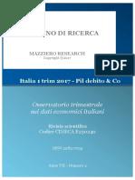 Italia 1 Trim 2017 - Pil Debito & Co