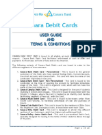 User Guide and Tnc Canara Bank Debit Card