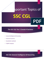 Most Important Topics for SSC CGL