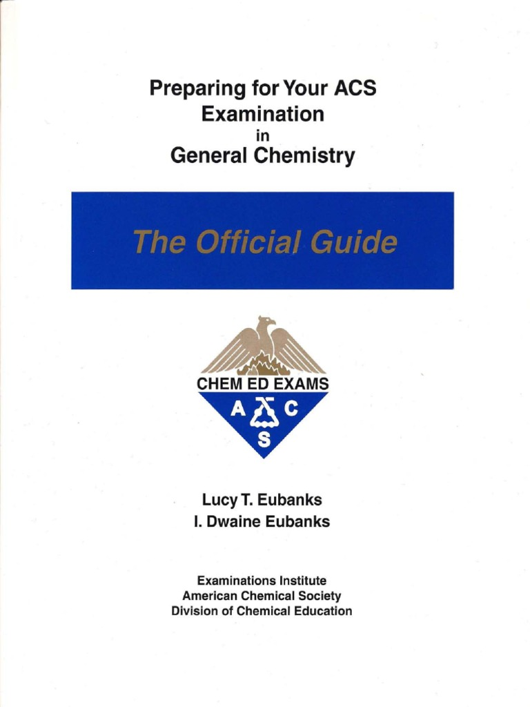 lucy t eubanks preparing for your acs examination in general rh scribd com general chemistry study guide mcat general chemistry study guide free