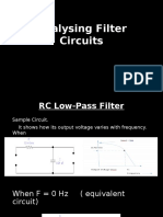Analysing Filter Circuits 12345