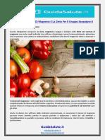 I Benefici Del Cloruro Di Magnesio E La Dieta Per Il Gruppo Sanguigno B