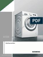 Wm16y590gb En - siemens washing machine