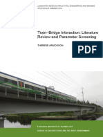Train–Bridge Interaction Literature Review and Parameter Screening