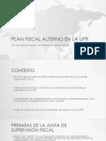 Plan Fiscal Alterno en la UPR