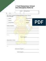 IES Postive Discipline Referal Tiger4-1