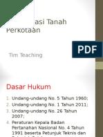 Konsolidasi Tanah Perkotaan Tim Teaching