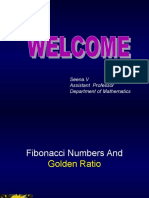 Fabonacci numbers and Golden Ratio