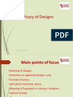 Piracy of Designs
