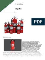equipamiento contra incendios