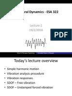 Structural Dynamics - ESA 322 Lecture 2