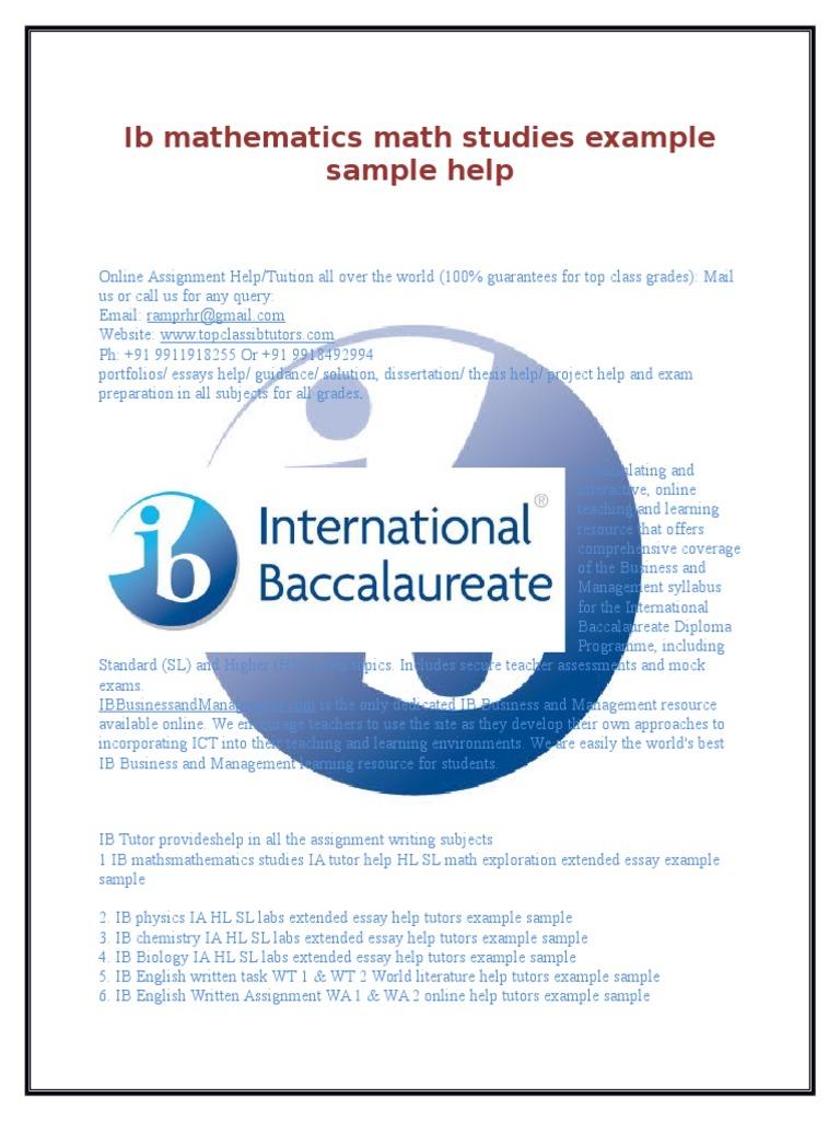 ib bio ia examples