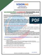 Gs Foundation Classroom Programme 2018 Hyderabad