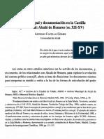 Poder municipal y documentación en la Castilla bajomedieval