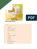 Zitronen Torte