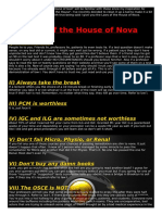 LAws of House of Anova
