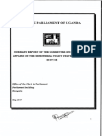 Report of the Committee on Presidential Affairs