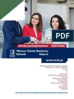 Informator 2017 - Studia Podyplomowe - Wyższa Szkoła Bankowa w Gdańsku