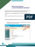Manual Collaborate Creacion Aula Docente
