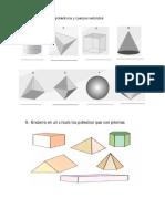 Ejercicios Cuerpos geométricos quinto grado
