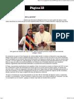 Carta del Papa a Milagro Sala