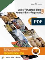 Direktori Awal Usaha Perusahaan Skala Menengah Besar Sensus Ekonomi 2016 Buku 1