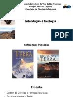 Aula 1 Introducao a Geologia