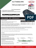 Solcourse - Polythene DPM Datasheet