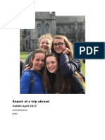 report of a trip abroad dublin