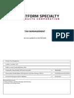 Impuestos (TAX) - Chile - Flowchart - Arysta LifeScience S a v3
