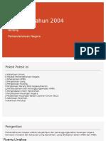 UU No 1  tahun 2004