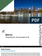 Qorvo 2017 Investor Day Presentation