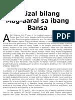 Rizal Bilang Mag-Aaral Sa Ibang Bansa