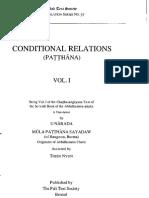 800. Patthana Conditional Relations Part I, Tr. Ven. U Narada
