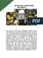 Automatización Industrial Mecánica