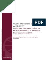 Claves para interpretar la Política Exterior Española y las Relaciones Internacionales en 2006