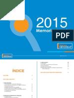 Memoria Anual 2015 Banco Cencosud Perú