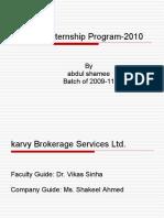 Summer Internship Program 2007 Samik