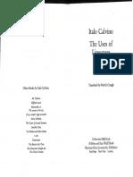 Calvino Italo Levels of Reality in Literature