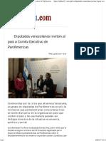 24-05-17 Diputadas Venezolanas Invitan Al País a Comité Ejecutivo de ParlAmericas - Informe21.Com